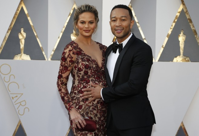 John Legend and Chrissy Teigen at the 88th Academy Awards