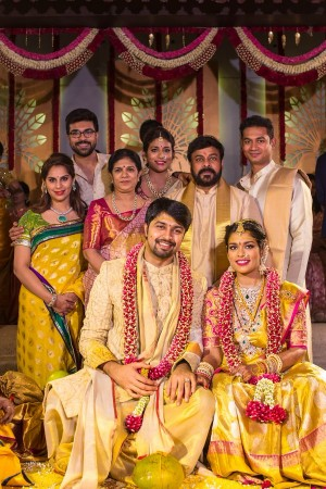 Mega family at Srija Konidela's wedding