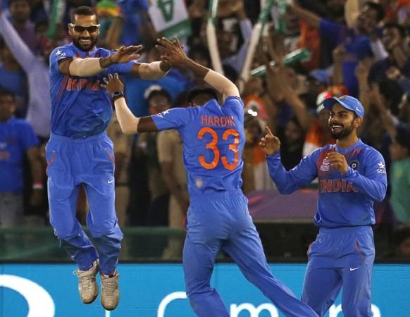Shikhar Dhawan Hardik Pandya Virat Kohli India World T20