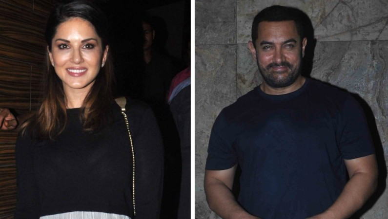 Sunny Leone attends Aamir Khan's late night party