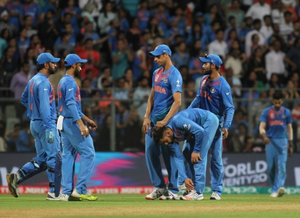 Indian cricketers after losing the second WT20 semi-final