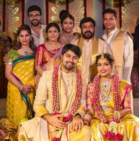 Mega-family members at Chiranjeevi's daughter Srija's wedding.