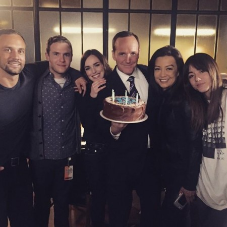 Clark Gregg with 'Agents of SHIELD' cast