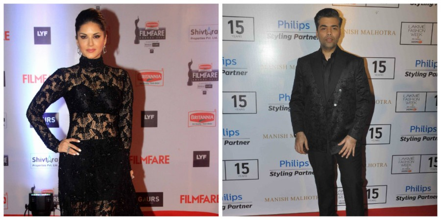 Sunny Leone and Karan Johar