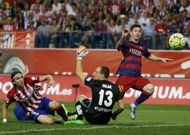 Lionel Messi Barcelona Oblak Atletico Madrid Luis