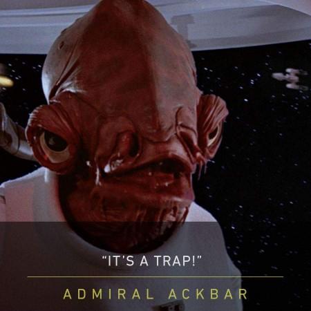Erik Bauersfeld as Admiral Ackbar