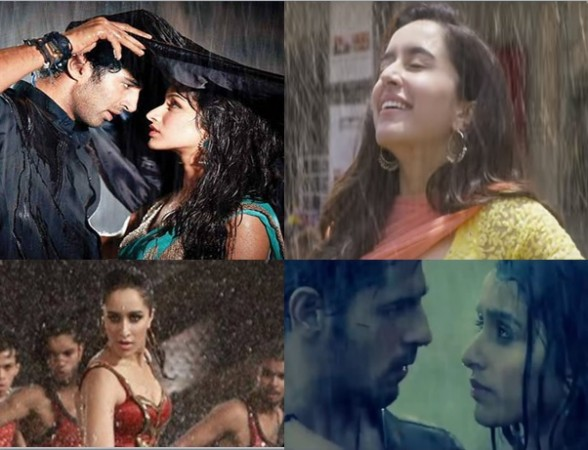 Shraddha Kapoor's rain sequences in her films
