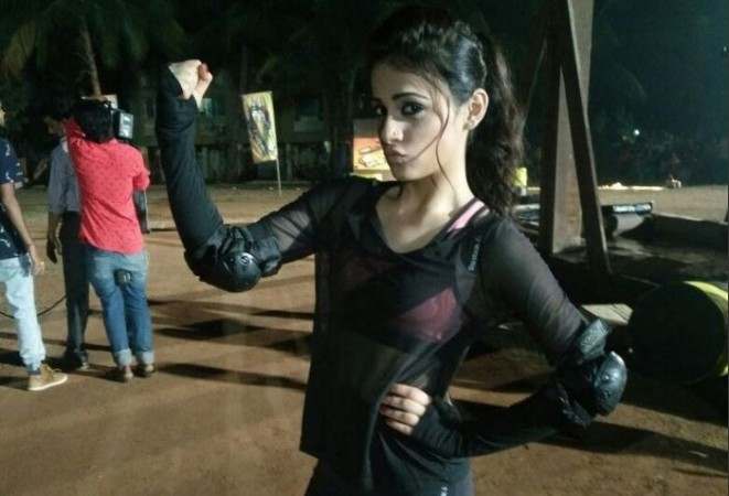 "Radhika Madan to make her Bollywood debut? Pictured: Radhika Madan on the sets of ""Khatron Ke Khiladi 7."""