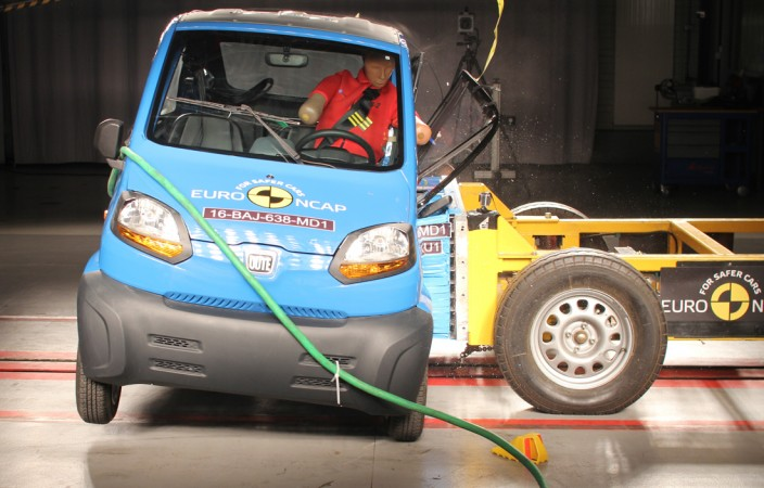 Bajaj quadricycle scored 1 star in Euro NCAP crash test