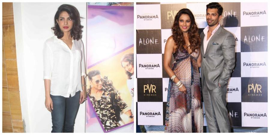 Priyanka Chopra, Bipasha Basu and Karan Singh Grover