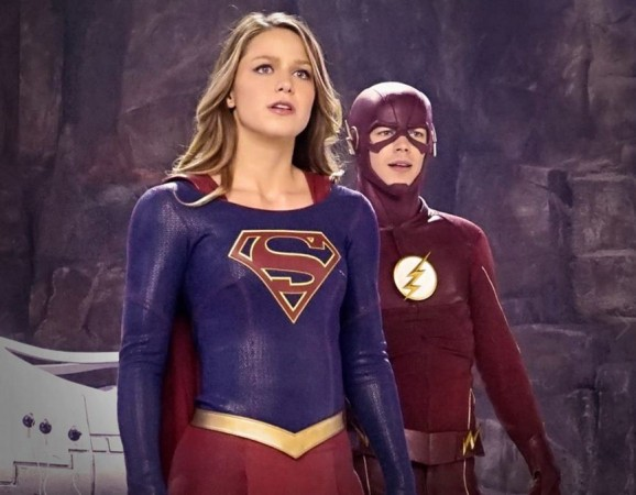Supergirl and Flash from 'Worlds Finest'