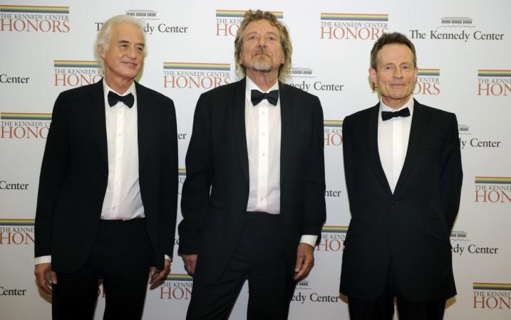 Jimmy Page, Robert Plant and John Paul Jones of Led Zeppelin