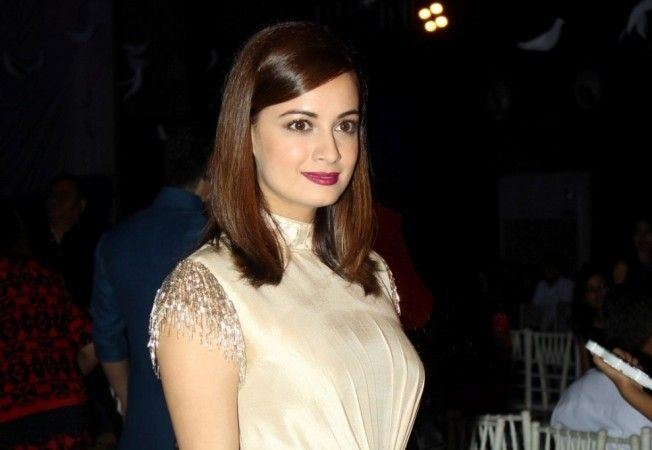 "Dia Mirza in travel show ""Ganga The Soul of India."" Pictured: Dia Mirza at the Lakme Fashion Week 2016"