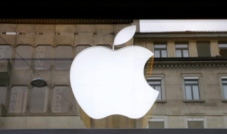 The logo of U.S. technology company Apple is seen in Zurich