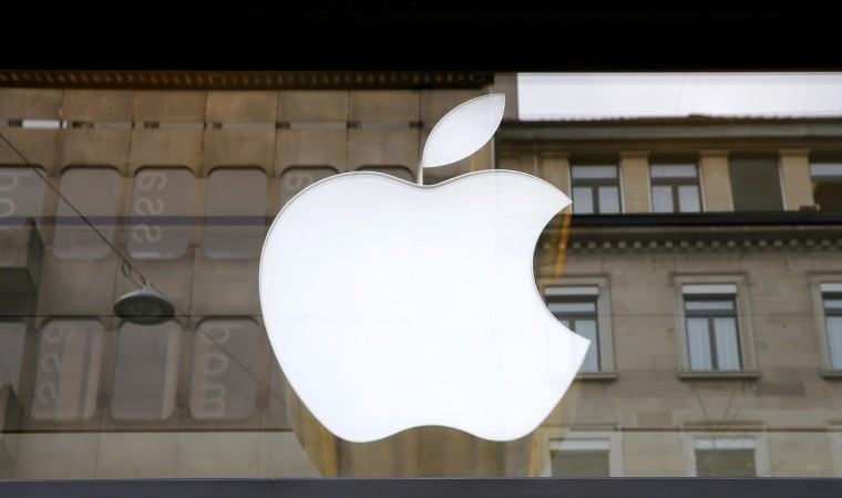 The logo of U.S. technology company Apple is seen in Zurich