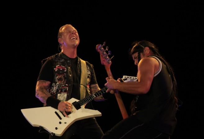 James Hetfield and Robert Trujillo of Metallica