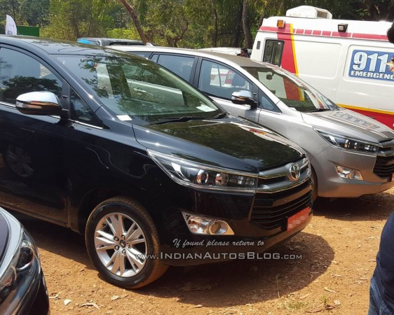 Toyota Innova Crysta spied undisguised in different colours