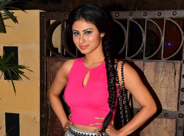 """Naagin"" tops the TRP charts. Pictured: ""Naagin"" actress Mouni Roy at an event"