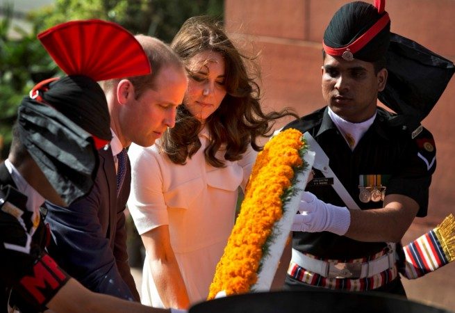 Kate Middleton and Prince William pay respect at India Gate