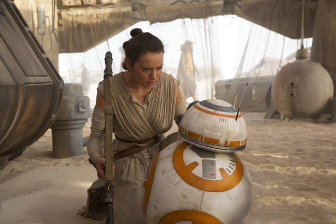 Daisy Ridley as Rey in 'The Force Awakens'