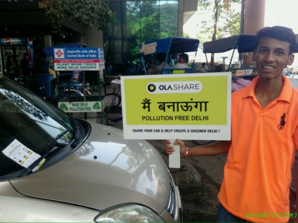 Ola's on-ground campaign in support of Delhi's odd-even rule