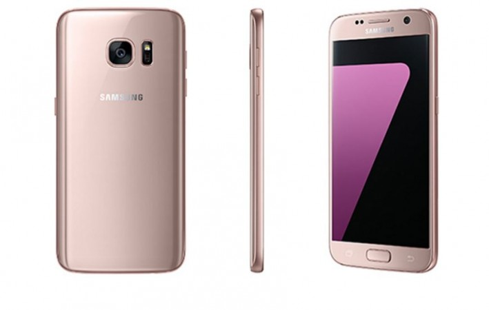 Samsung unveils new pink gold Galaxy S7 series