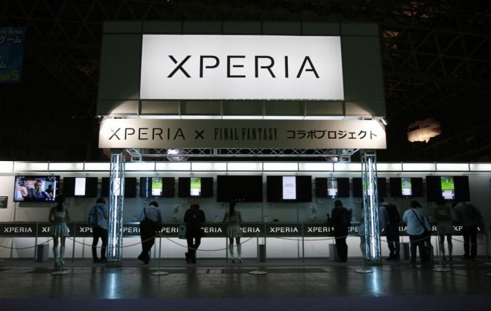 Sony Corp's smartphone line Xperia is seen at the Tokyo Game Show 2014
