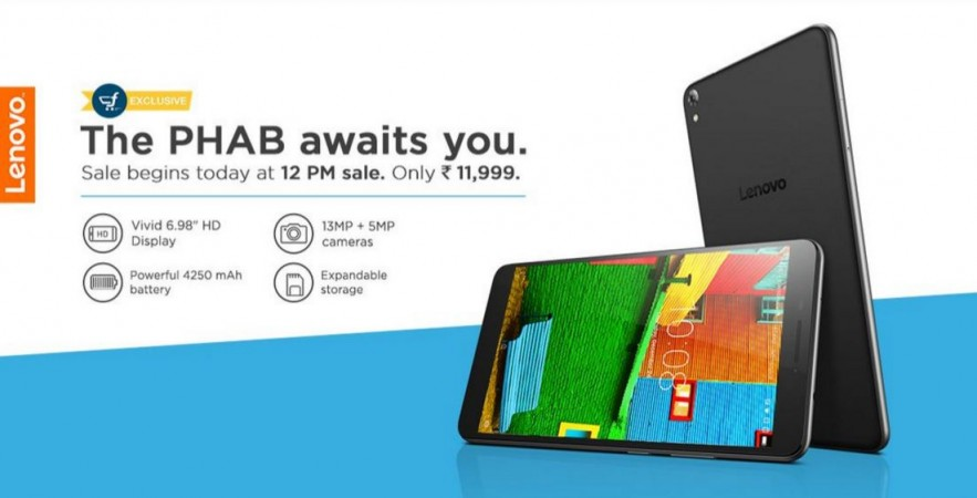 Lenovo Phab flash sale 1.0 to go live on April 21