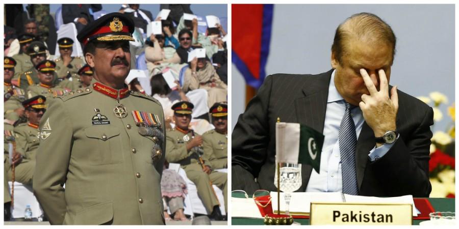 Raheel Sharif Nawaz Sharif Pakistan PM Army