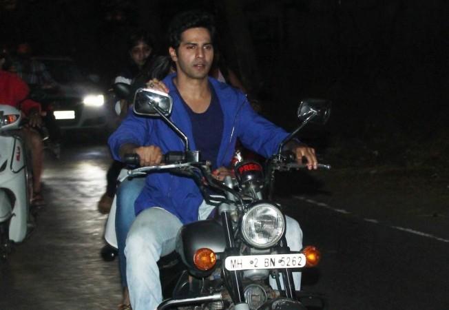 Varun Dhawan Takes Ekta Kapoor for Bike Ride to Promote 'Main Tera Hero'