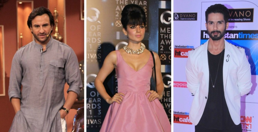 Kangana Ranaut made Saif Ali Khan and Shahid Kapoor uncomfortable on the sets of