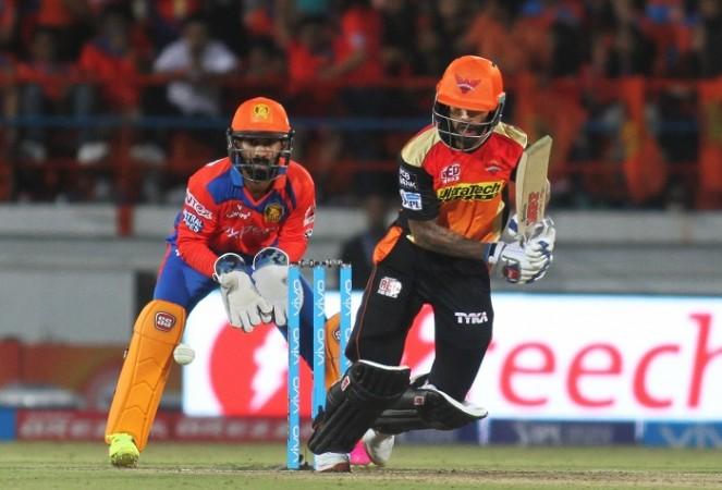 Shikhar Dhawan SRH Dinesh Karthik Gujarat Lions