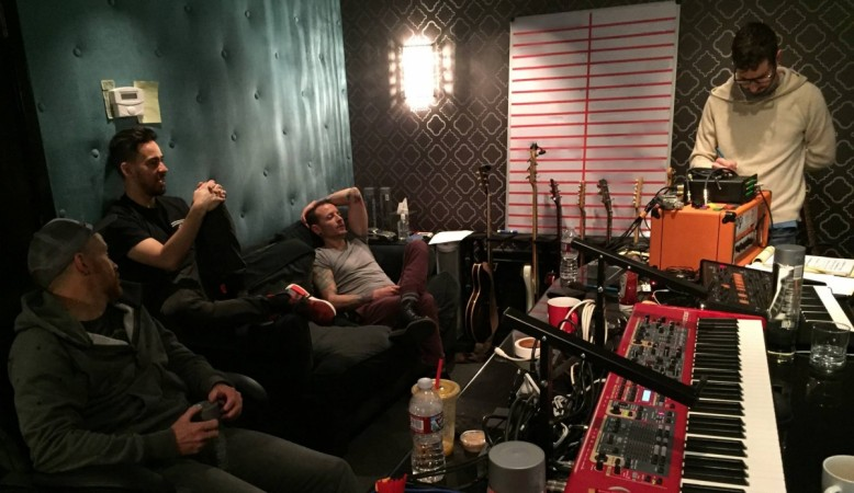 Linkin Park in the studios in Los Angeles