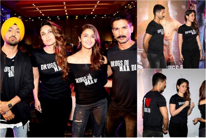 "Shahid Kapoor, Kareena Kapoor Khan at ""Udta Punjab"" trailer launch"