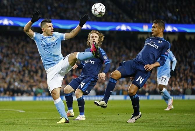 Sergio Aguero Manchester City Luka Modric Casemiro Real Madrid