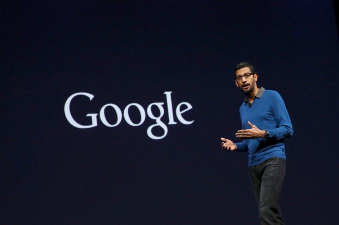 Sundar Pichai at the Google I/O developers conference