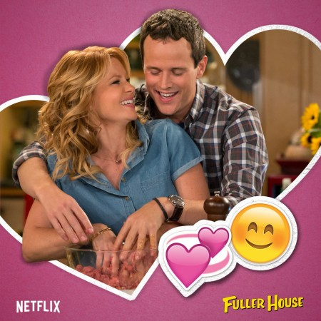 """Steve and DJ recreating an old date in """"Fuller House"""""""