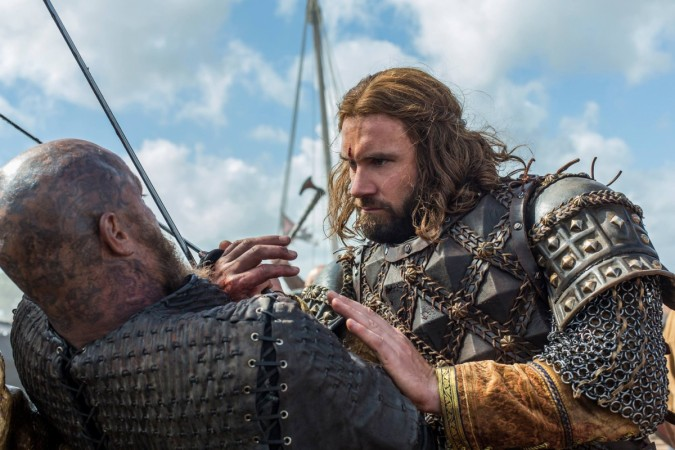"Rollo nearly kills Ragnar in ""Vikings"" Season 4 episode 10"