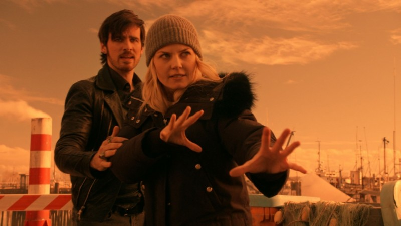 Captain Hook and Emma Swan in 'Once Upon a Time'