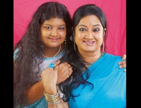 Sreemayi with her mother Kalpana