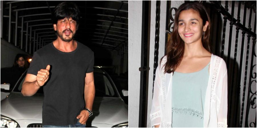 Shah Rukh Khan, Alia Bhatt at Karan Johar's party