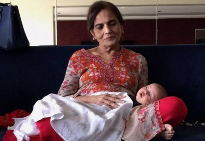 Salman Khan shares nephew Ahil's photo with his grandmother Salma