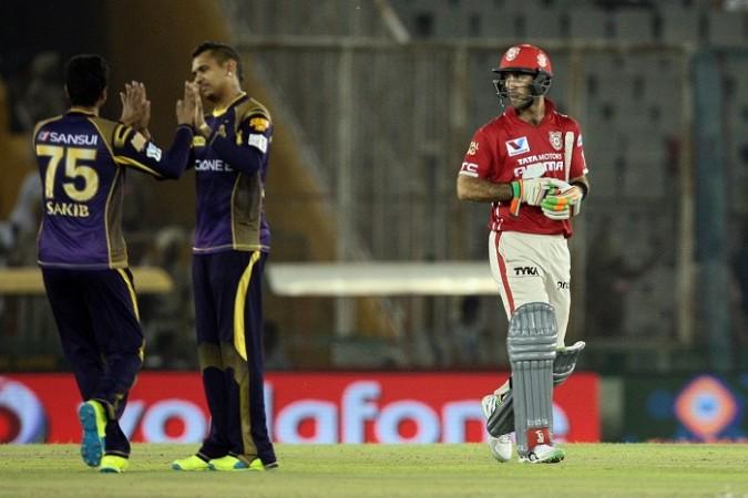 Sunil Narine KKR Glenn Maxwell Kings XI Punjab