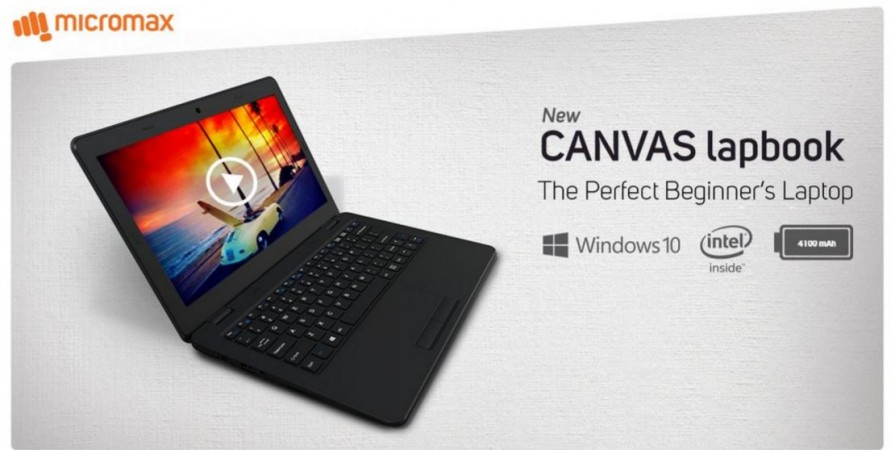 Micromax launches Canvas Lapbook L1160 with Intel Atom SoC ; price, specifications