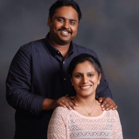 Gregory Jacob and his wife Sagarin Elza George