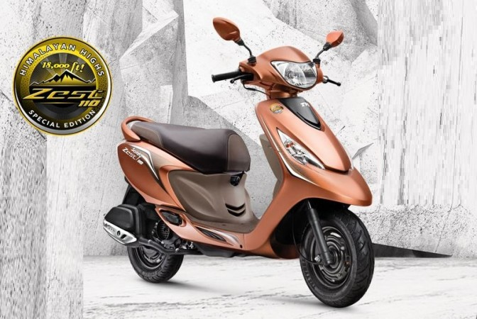 TVS Scooty Zest 110 Himalayan Highs special edition