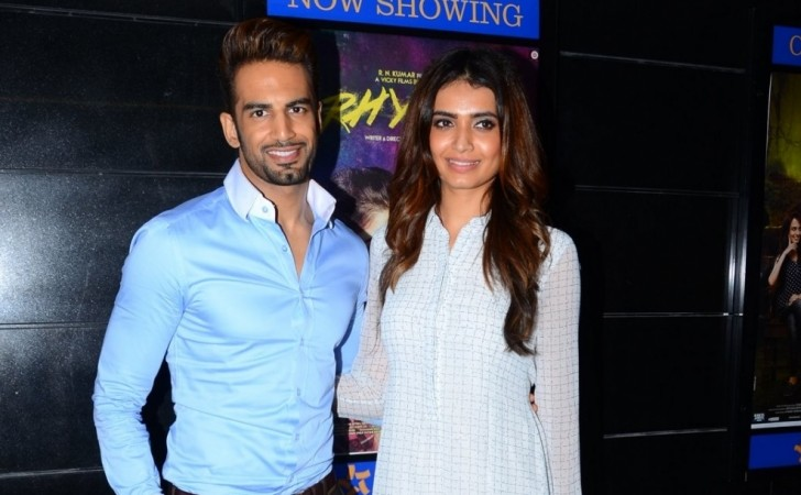 Karishma Tanna and Upen Patel no longer together? Pictured: Upen Patel and Karishma Tanna during the screening of film Tere Bin Laden in Mumbai
