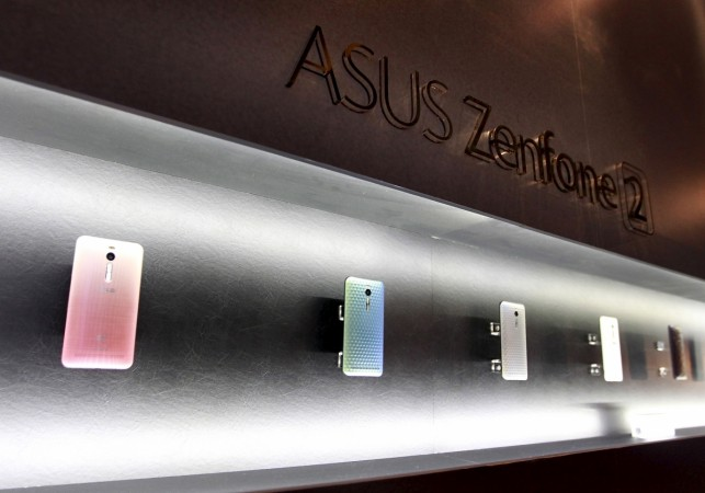 ASUSTeK's new product Zenfone 2 smartphones on display