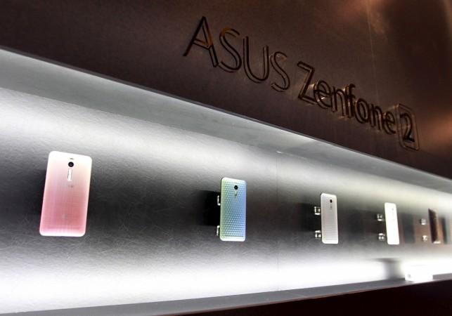 ASUSTeK's new product Zenfone 2 smartphones on display
