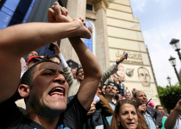 egypt journalists protest